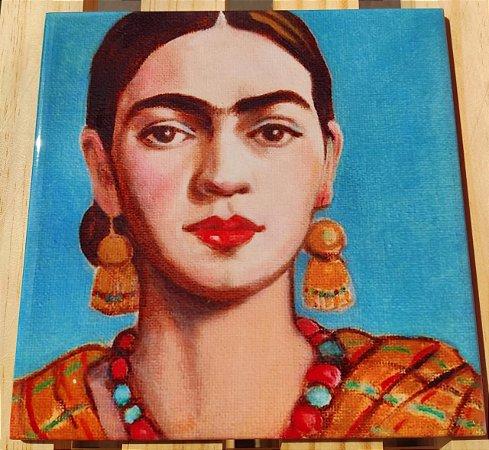 Azulejo 20 x 20 - Frida brincos amarelos