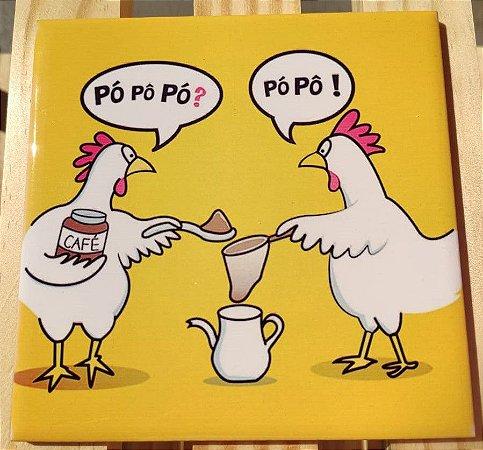 Azulejo 15 x 15 - galinha café amarela