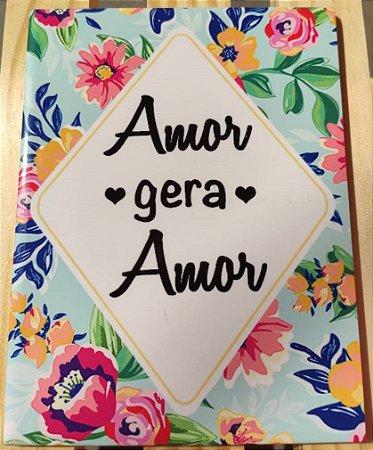 "Azulejo 15 x 20 - ""Amor gera amor"""