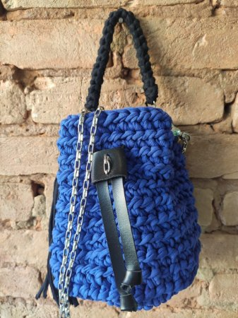 Bolsa Crochê ( azul royal )