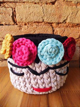 Cachepô Crochê ( Frida )
