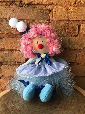 Boneca Palhacinha - Azul