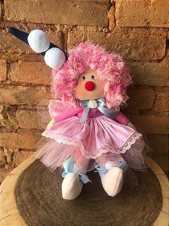 Boneca Palhacinha - Rosa