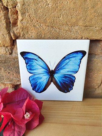 Azulejo 10x 10 - Borboleta Azul