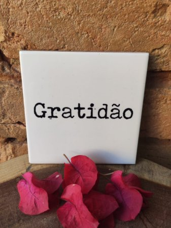 Azulejo 10 x 10 gratidão
