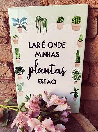 Azulejo 20 x 30 -  Lar & Plantas I
