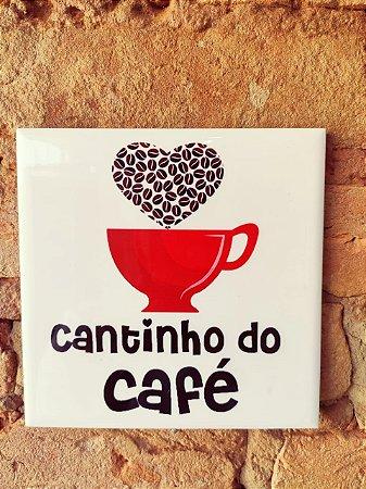 Azulejo 15 x 15 - cantinho do café (xícara vermelha com coração)