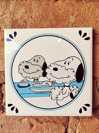 Azulejo 15 x 15 - Snoopy barba azul