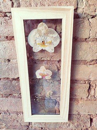 Quadro de flores naturais