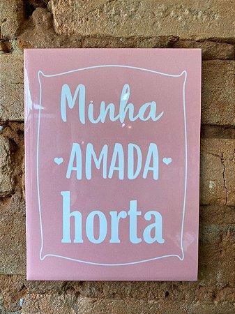 Azulejo 15 x 20 - Minha amada horta rosa