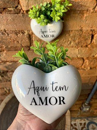 """Vasinho de Parede Coração """" Aqui tem Amor"""""""