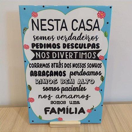 "Azulejo 20 x 30 - ""Nesta casa"""