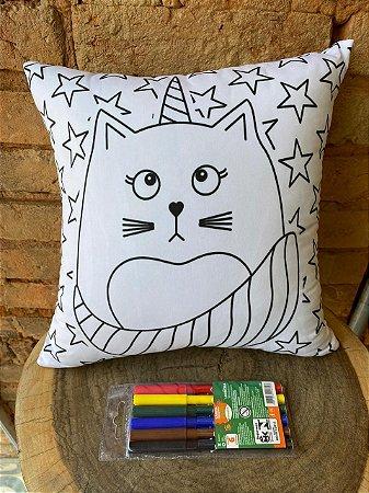 Almofada para colorir Unicórnios