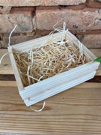 Mini caixote de madeira