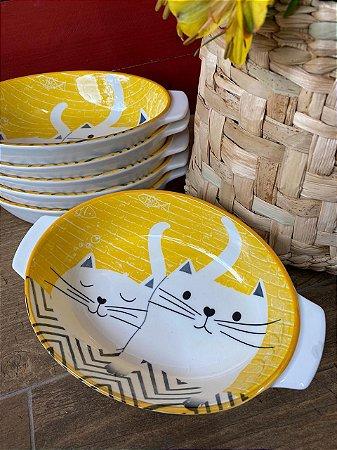 Bowl amarelo gatinhos