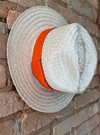 Chapéu Panamá detalhe Laranja