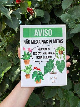 Azulejo Aviso Plantas