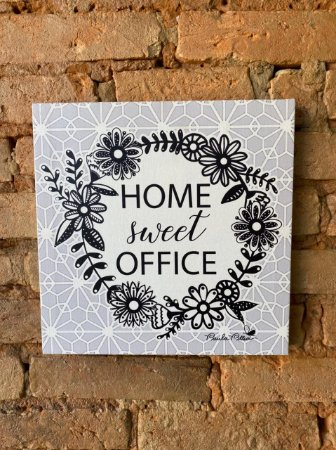 Quadro Canvas  Home Sweer Office