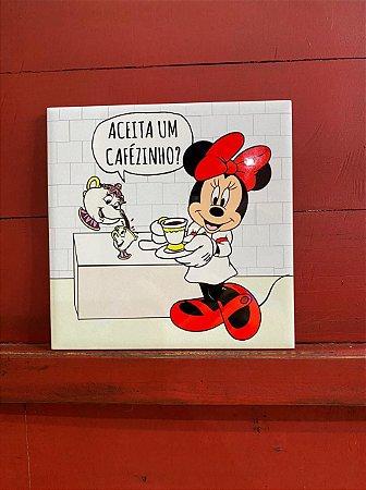 Azulejo Minnie ACEITA UM CAFÉZINHO?