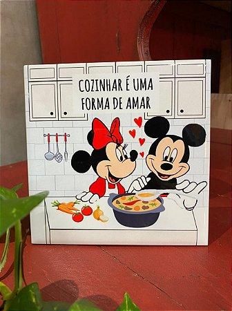 Azulejo Minnie e Mickey COZINHAR É UMA FORMA DE AMAR
