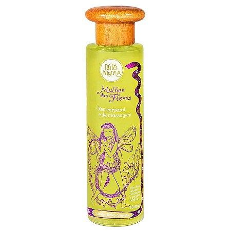 Óleo  de massagem corporal - Mulher das flores - 150 ml