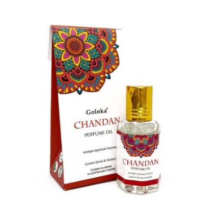 Perfume Indiano Chandan Sândalo -  Goloka - 10ml