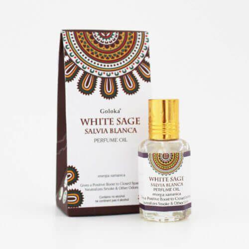 Perfume Indiano Sálvia Branca -  Goloka - 10 ml