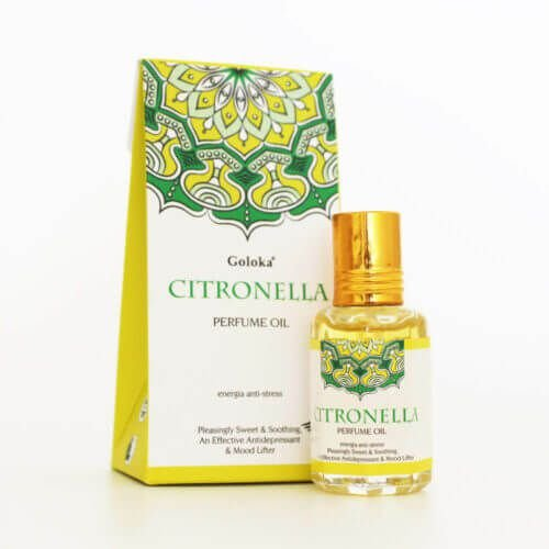 Perfume Indiano Citronela -  Goloka - 10ml