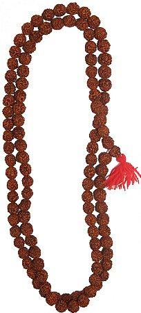 Japamala de sementes originais de Rudraksha 108 contas media 70cm.
