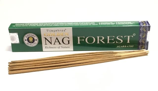 Incenso de Massala Golden Nag Forest- Energia da natureza e floresta.
