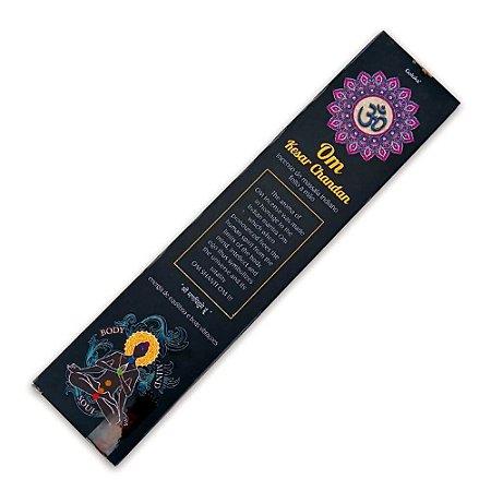 Incenso Indiano Om Kesar Chandan - Energia de equilíbrio e boas vibrações
