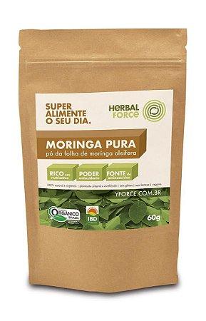 Moringa Pura Orgânica! 60 g - Super Alimento ! Vegano e sem Lactose.