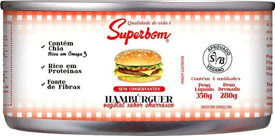 Hambúrguer vegetal 350g.  Vegano. Superbom.