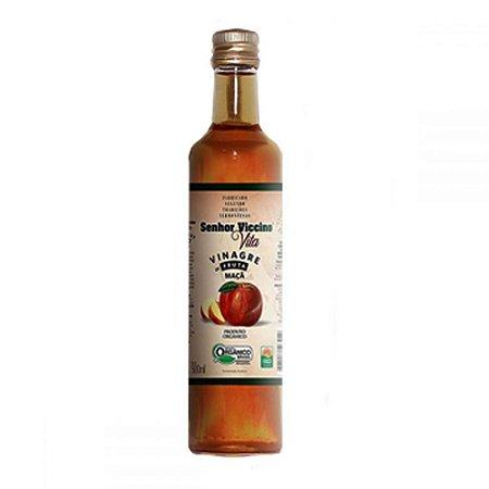 """Vinagre de Maçã Orgânico 500 ml """"Senhor Vicicino """"."""