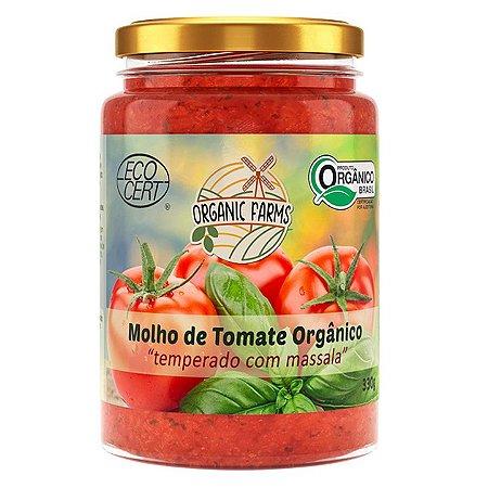 Molho de tomate orgânico - Temperado com Massala 330g