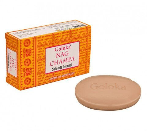 Sabonete natural Nagchampa 75g. Natural e com óleos essências aromáticos.  VEGANO