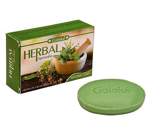 Sabonete Goloka Herbal 75g - Natural e com ervas de purificação.