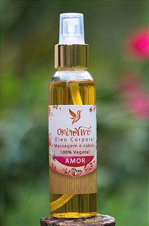 *Óleo  AMOR Gerânio e Ylang Ylang.  Corporal Massagem e Cabelo 120 ml