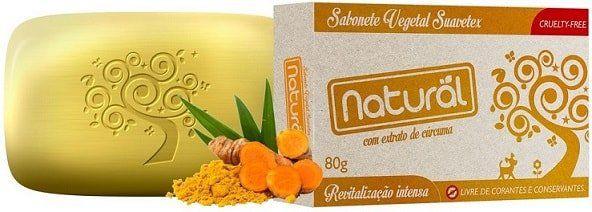 Sabonete Organic Natural com extrato orgânico  de Cúrcuma  80g.  Cruelty-Free