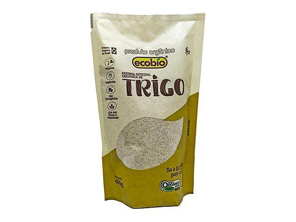 Farinha integral de Trigo Orgânica 400g. Vegana, Nao-Transgênica.