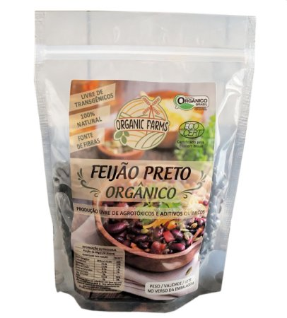 FEIJÃO PRETO ORGÂNICO 500G - ORGANIC FARMS