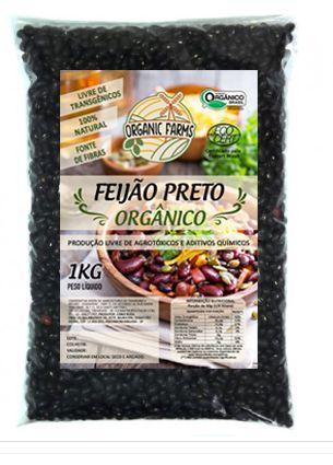 FEIJÃO PRETO ORGÂNICO 1KG - ORGANIC FARMS