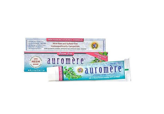 Creme Dental Auromere 117g - Vegana e Sem menta e Sem espuma