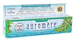 Creme dental  Auromere 117 gr -  Vegana   e com 17 ervas Ayurvedicas .