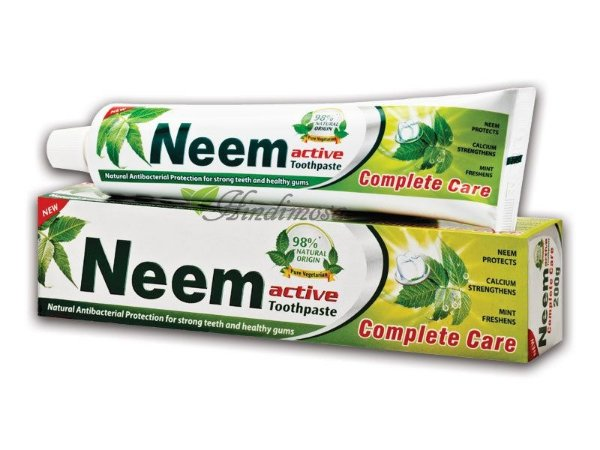 Creme dental NEEM Ativo - 125g - VEGETARIANA E VEGANA.  CRUELTY FREE