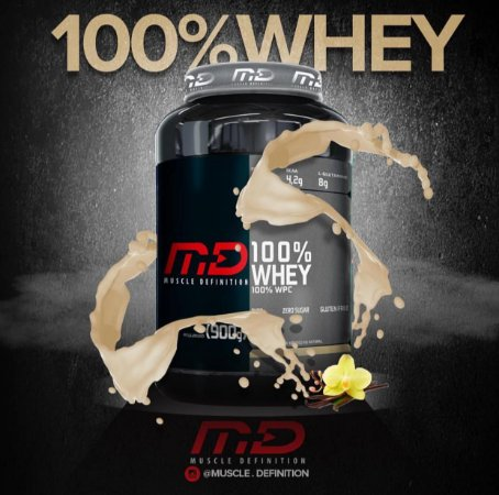 100% Whey concentrado 900g - MD