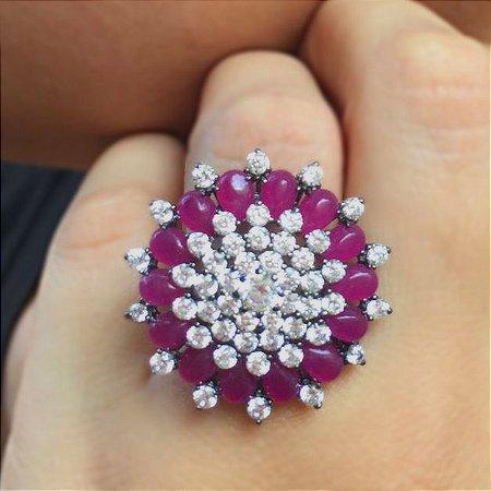 Anel Purple Flower