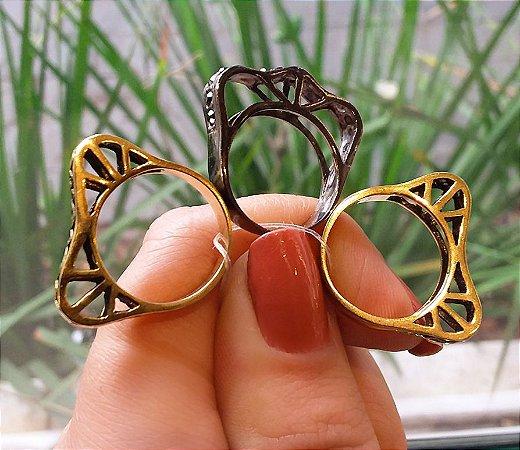 Conjunto de anéis Idolatria - Hector Albertazzi
