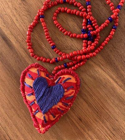 Colar Heart Boho Listras