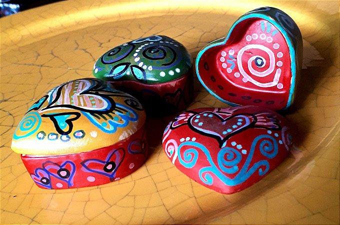 Mini porta-jóias Coração vários modelos